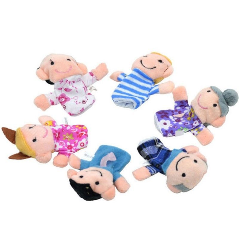 Baby Kids Plush Cloth Play Game Learn Story Family Finger Puppets