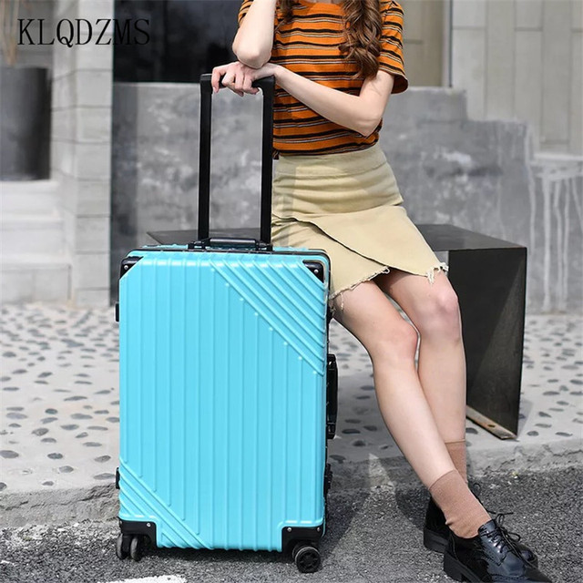 ABS + PC Aluminum Frame Rolling Luggage