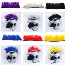 DIY Helmet Mohawk Hair Punk Hair For Motorcycle Ski Snowboard Helmets