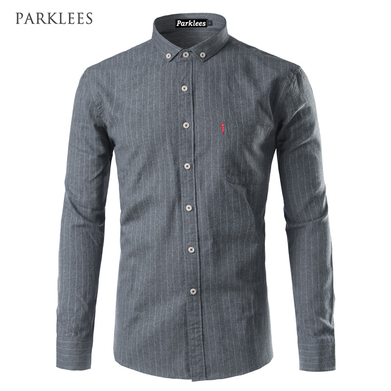 Button down dress shirt men 2017 new arrival long sleeve for Latest shirts for mens 2017
