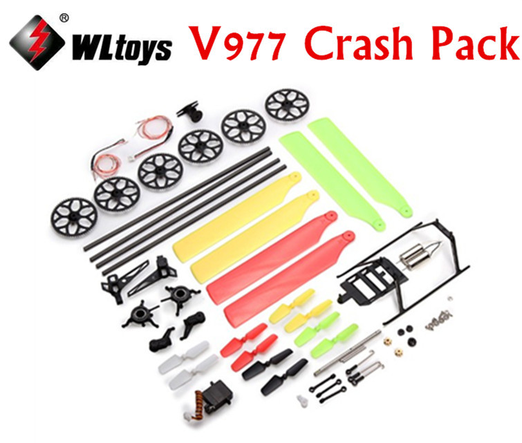 все цены на WLtoys V977 Crash Pack Accessory Bag WLtoys V977 Power Star X1 Spare parts Free Shipping онлайн