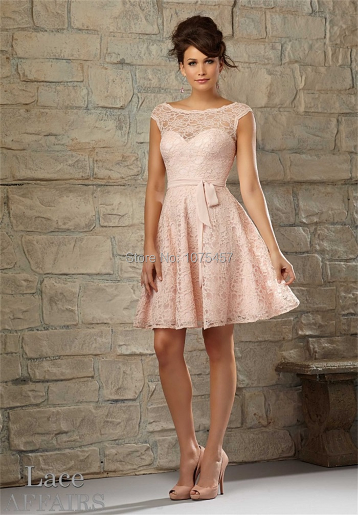 Popular Pale Pink Lace Bridesmaid Dresses-Buy Cheap Pale Pink Lace ...