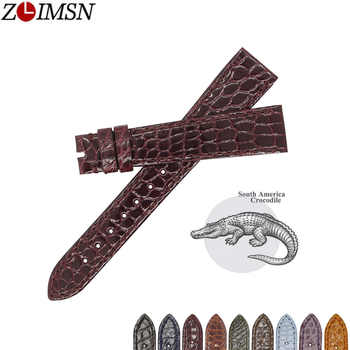 ZLIMSN Top Quality Genuine Crocodile Luxury Round Stripe Crocodile Skin Strap Size Can Be Customized 18mm 19mm 20mm 21mm  22mm - DISCOUNT ITEM  20% OFF All Category