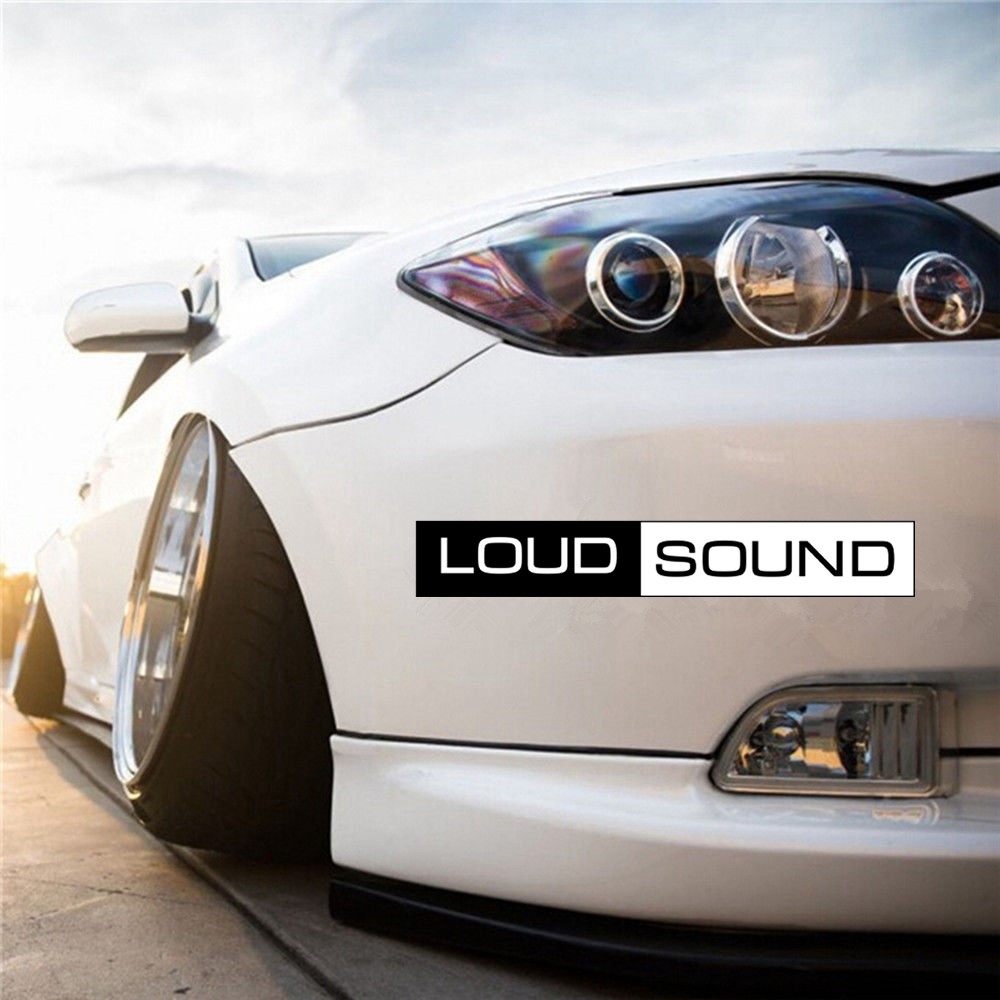 CS-724#5*23cm LOUD SOUND Funny Car Sticker And Decal Black PVC Printed Auto Car Stickers