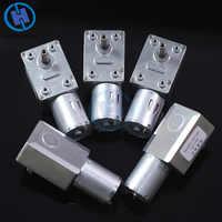 Cc 12V 2-100RPM reductor de engranajes Motor gusano Reversible alto par Turbo motorreductor Mini caja de cambios eléctrica