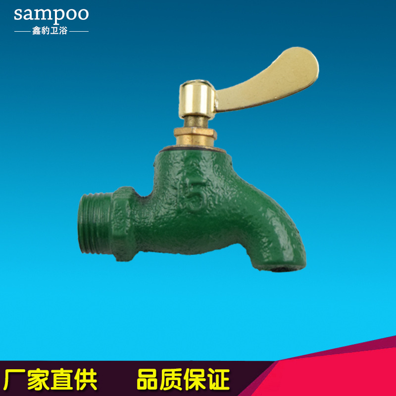 Iron fast opening with a key faucet bathroom sanitary ware faucet cast iron engineering factory direct wholesale