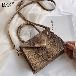 Image 1 - [BXX] حقيبة كتف واحدة للنساء حقيبة كروس مطابقة للكل 2020 حقيبة محمولة على شكل ثعبان للنساء حقيبة يد عتيقة حزمة HF206