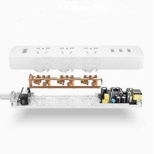 Image 3 - Originele Xiaomi Smart Home Elektronische Power Strip Socket Snel Opladen 3 Usb Met 3 Stopcontacten Standaard Plug