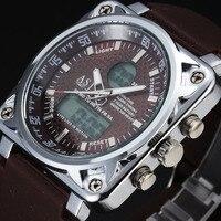 Luksusowa Marka Sport Watch Mężczyźni LED Cyfrowe Reloj Hombre 2016 Zespół Krzemu Zegarek Kwarcowy Rocznika Steel Case Relogio Masculino 4835 S
