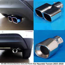 Hot For Hyundai Tucson 2015 2016 2017 2018 car cover muffler exterior end pipe dedicate stainless steel exhaust tip tail 1pcs