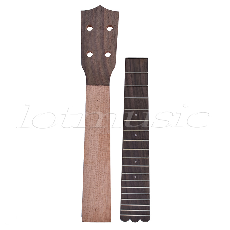 Concert Ukulele Neck Fretboard Rosewood Fingerboard for 23 Inch Hawaii Guitar Parts neck and fretboard fingerboard for 26 inch tenor ukulele hawaii guitar parts maple and rosewood 18 fret