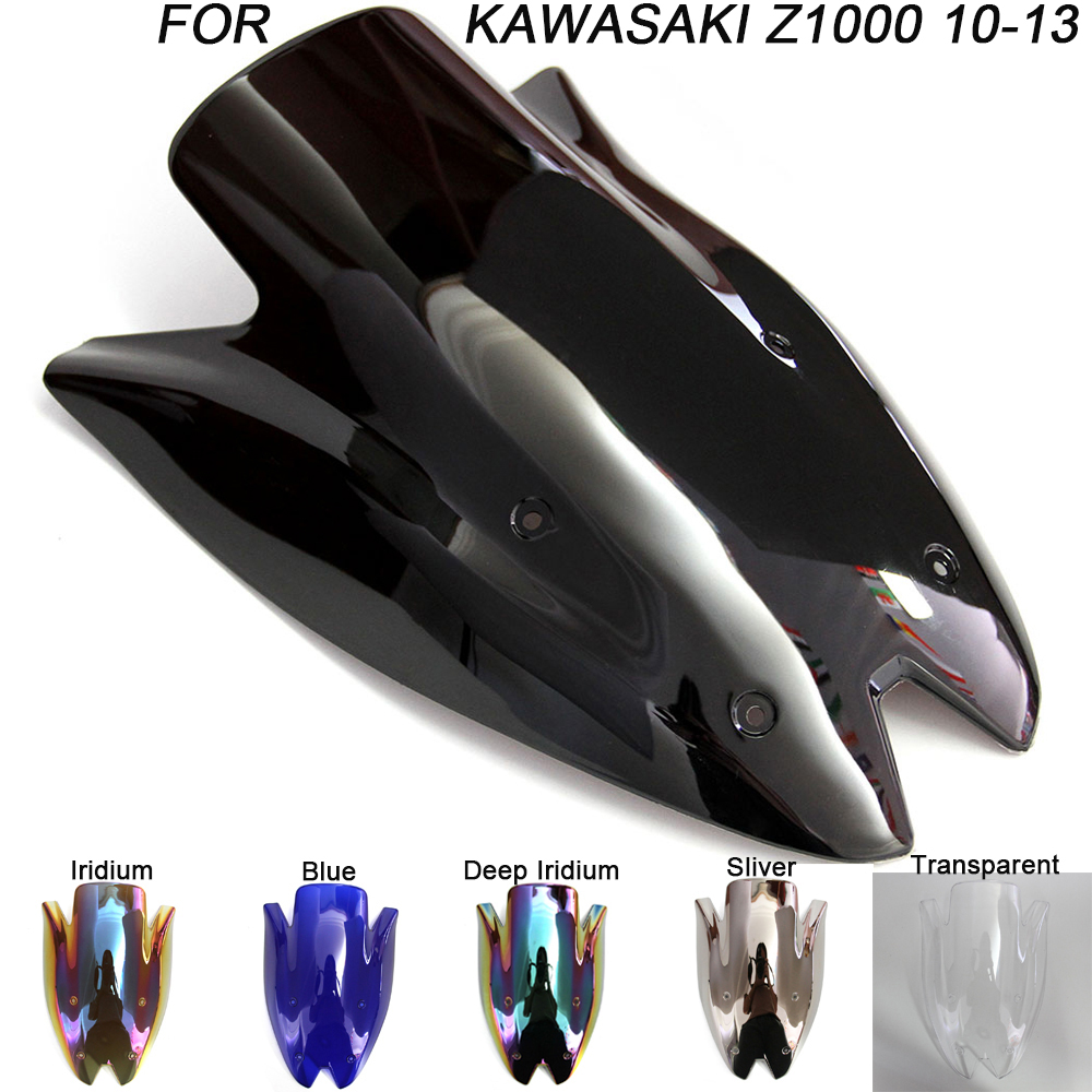 Windshield For Kawasaki Z1000 Z 1000 2010-2013 2010 2011 2012 Double Bubble Windscreen Wind Deflectors Motorcycle Motorbike