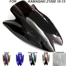 цены Windshield For Kawasaki Z1000 Z 1000 2010-2013 2010 2011 2012 Double Bubble Windscreen Wind Deflectors Motorcycle Motorbike