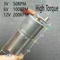DIY Hand - cranked generator 25MM DC 12V 200RPM Motor 370 dc Gear Box Motor 3V 50RPM 6V 100RPM DC Brush Motor NO-Brushless