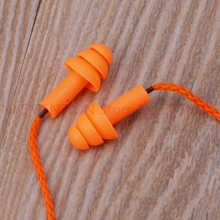 Soft Silicone Wired Ear Plugs Noise Reduction Caps Earmuffs Hearing 500pairs