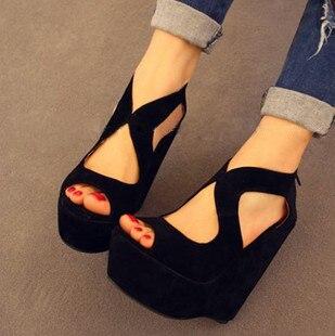New arrival 2013 thin open toe shoe wedges high-heeled platform sandals female platform women heels shoes
