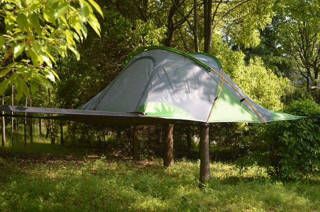 Ultralight backpacking hiking hanging Tree House Hammcock Waterproof Four Season Camping Tree Tent For 3 people