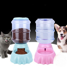 Large Automatic Feeder Dog Cat For Water Feeding  Fountain Dry Food Dish Bowl Capacity Dispenser