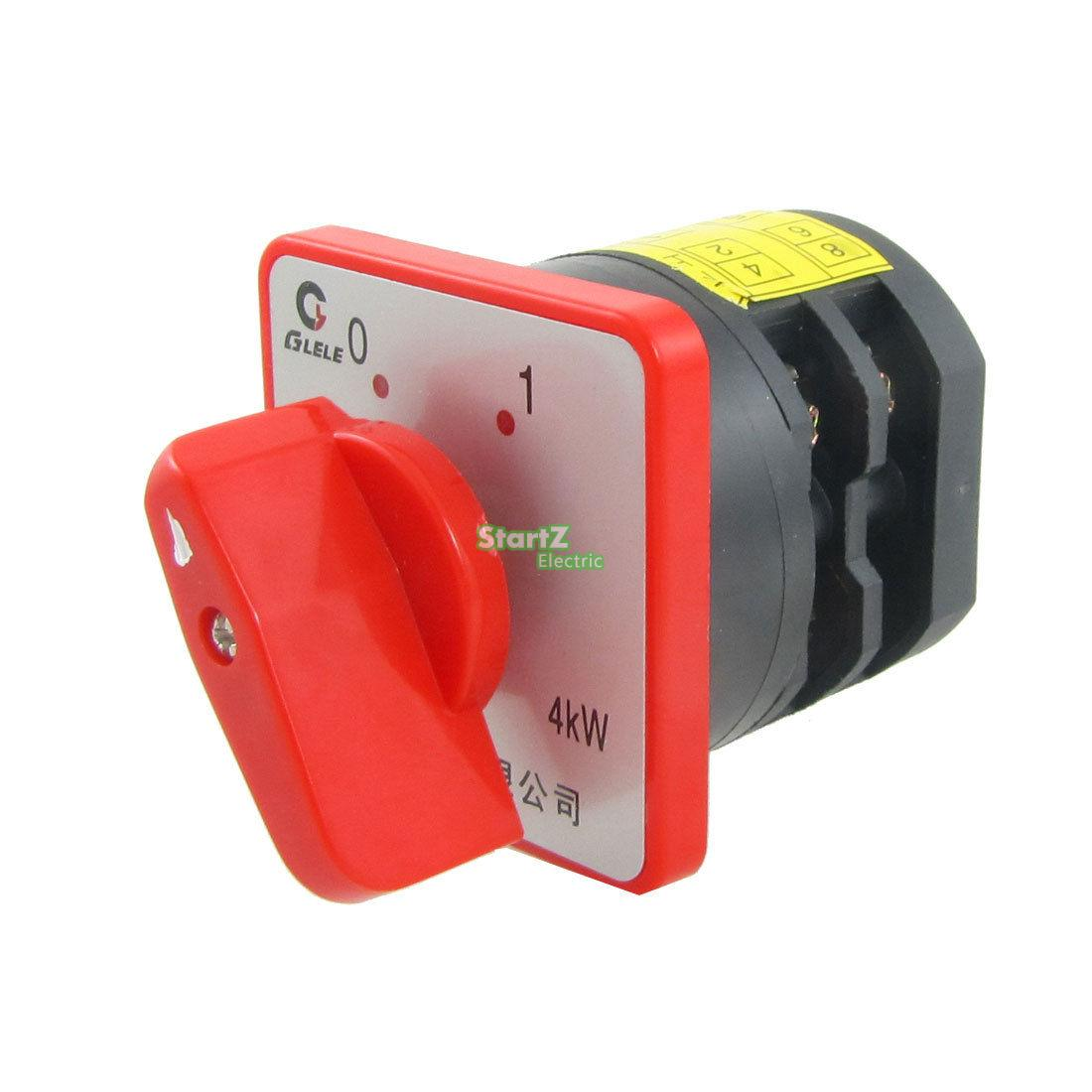 AC 380V 20A 4KW ON/OFF 2 Position Rotary Cam Universal Changeover Switch load circuit breaker switch ac ui 660v ith 100a on off 3 poles 3 phases 3no 2 position universal rotary cam changeover switch