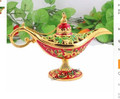 Decoración estatua venta directa de fábrica de la lámpara de Color Rojo lámpara de Aladino de Bronce grabado hermosa Árabe TDP