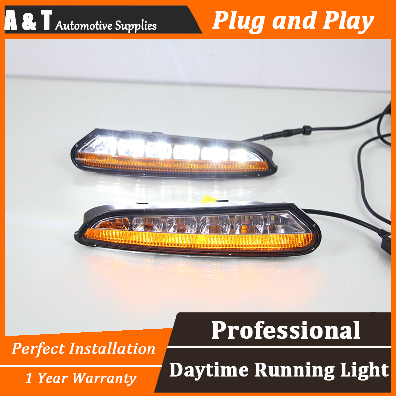 car styling For Buick Encore LED DRL For Buick Encore led fog lamps daytime running light High brightness guide LED DRL 2pcs for buick excelle gt high quality car styling new led drl car special led daytime running light