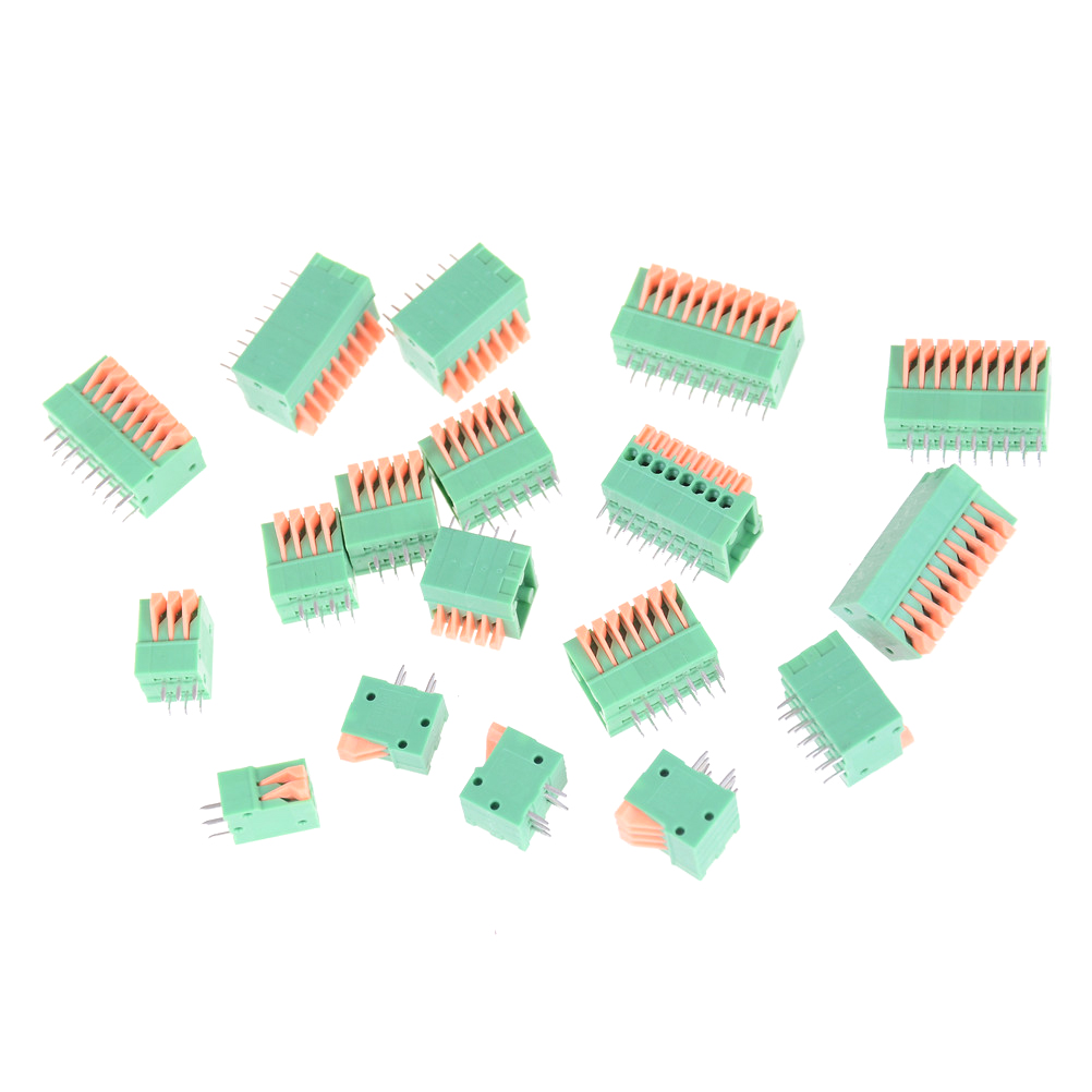 5PCS HUXUAN KF141R KF141V 2.54mm Pitch PCB Straight Foot Connectors 2/3/4/5/6/7/8/9/10P Spring Screless Copper Terminal Block 10 pcs 2 3 4 5 6 7 8 9 10p dual row 2 54mm pitch smd type surface mount dip switch