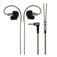 2017 Nova Unidade 6BA + 6BA HZSOUND HD1 Em fones de Ouvido Fone de Ouvido de ALTA FIDELIDADE Do Monitor 3D Impressão Personalizada Esportes Fone de ouvido fone de Ouvido Livre grátis