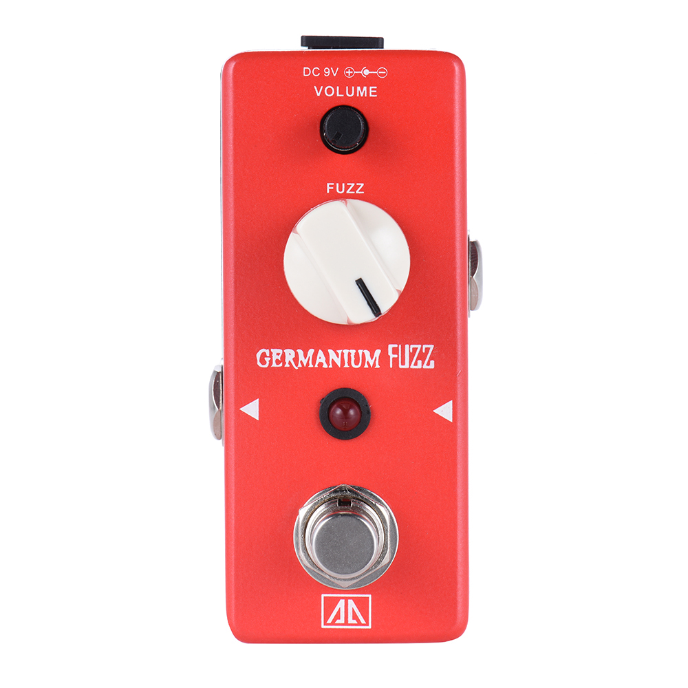AROMA AGF-5 Classic Germanium Transistor Fuzz Guitar Effect Pedal Aluminum Alloy Body True Bypass aroma adr 3 dumbler amp simulator guitar effect pedal mini single pedals with true bypass aluminium alloy guitar accessories