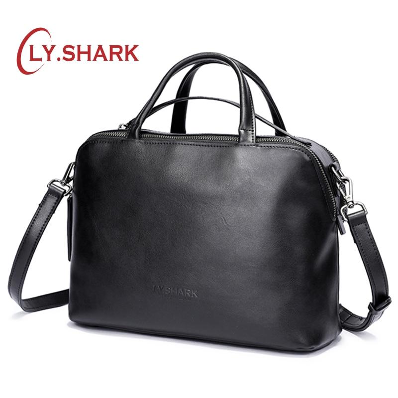 ¡LY! bolsa de mensajero de tiburón, bolso de hombro para mujer, bolso de mujer, bolsos de cuero genuino para mujer, marca de lujo 2019-in Bolsos de hombro from Maletas y bolsas    1