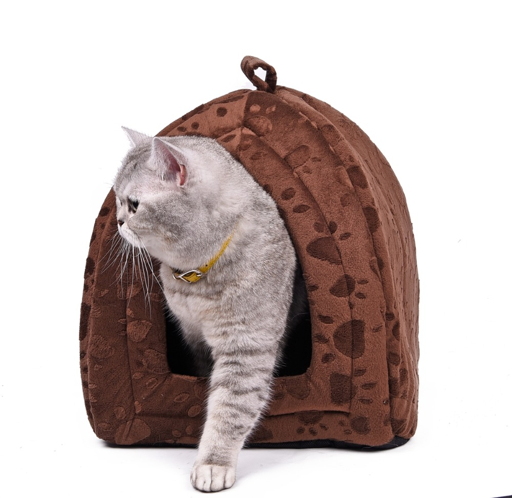 Cone Pet Cat Bed Kitten Kennel Very Soft Fabric Dog Bed Pet House Puppy Dog Cat With Paw Cama Para Cachorro Products For Animals #5