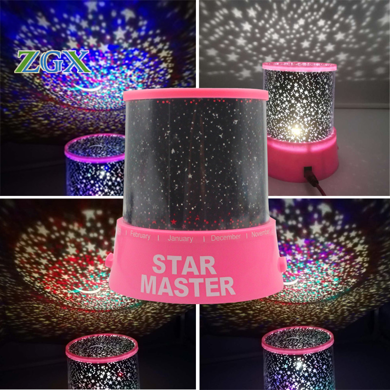 ZGX LED Starry Sky moon Master Night Light Lamp Children Kids Home Decor Baby Toy Romantic USB Projection lamp star dream помада maybelline new york maybelline new york ma010lwjkz94