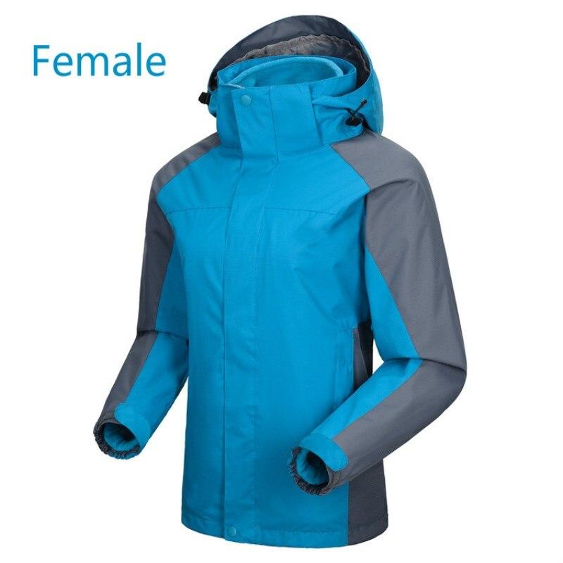 Hommes femmes en plein air coupe-vent imperméable à l'eau thermique assaut costume deux ensembles de amovible intérieur vésicule biliaire ski escalade