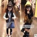 Tassel Gilet Enfant Autumn Kid Vest Leather Tassel Vest Fashion Girl fringe Vest baby sleeveless vest Tassel Gilet Enfant
