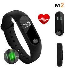 M2 Smart Watch Wristband Fitness Tracker Heart Rate Monitor Smartwatch Men Women Pedometer Sport Bracelet Waterproof Wristwatch
