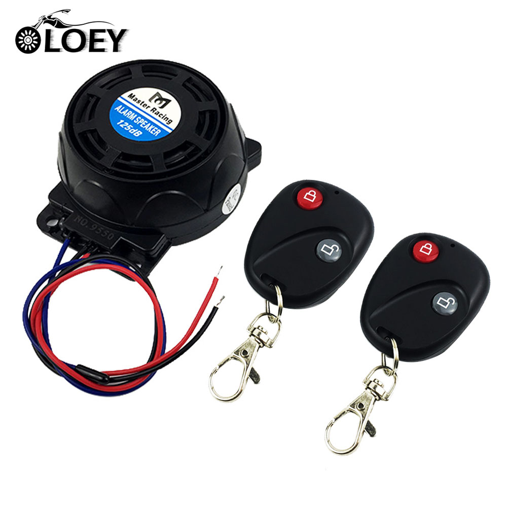OLOEY 12v Universal Mini Motorcycle Anti-theft Alarm Security System Scooter Alarm Speaker For Honda Suzuki Yamaha Kawasaki
