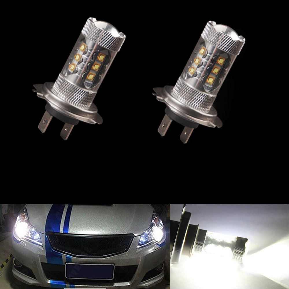 1PCS x Car <font><b>Fog</b></font> Light 80W H7 <font><b>LED</b></font> Bulb <font><b>16</b></font> SMD DC 12V 360 Degree 760lm White Headlight 6000K <font><b>Fog</b></font> <font><b>Lamp</b></font> Light Sourcing image
