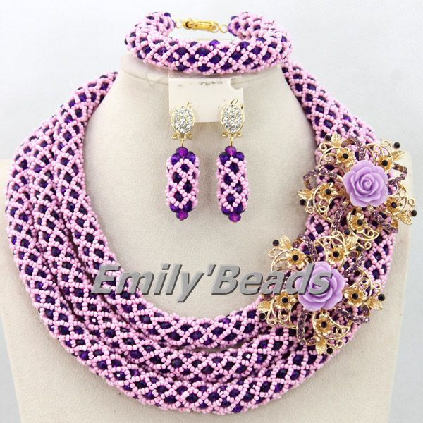 African Jewelry Set Chunky African Wedding Jewelry Set Nigerian Bead Indian Bridal Necklace Jewelry Set Free