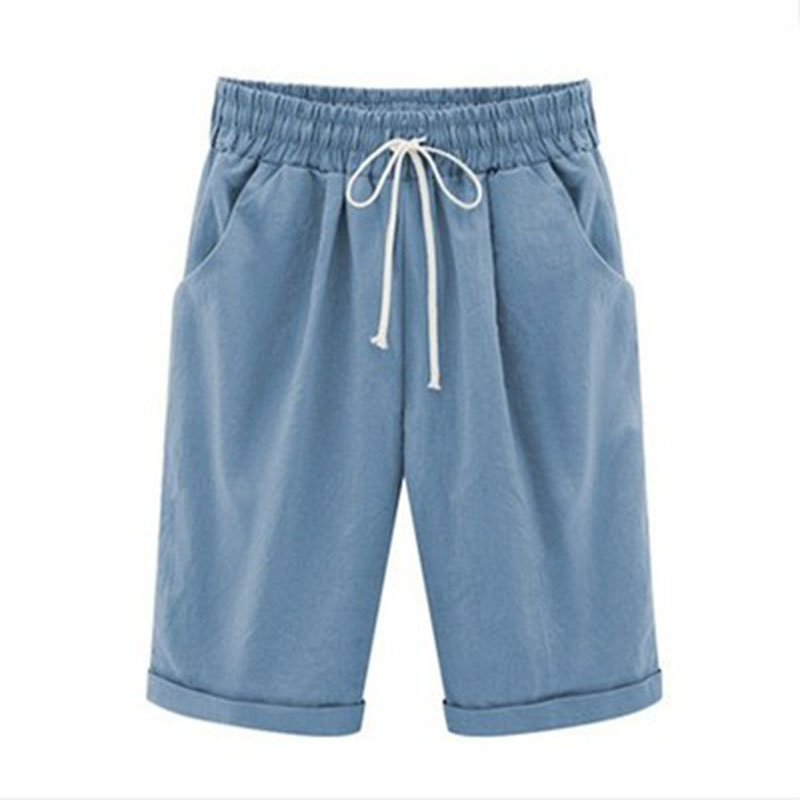 2019 Summer Casual Shorts Women's Five Shorts Thin Section Outside Wearing Shorts Large Size
