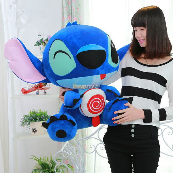 Fancytrader 26'' / 65cm Giant Stuffed Soft Plush Lovely Big Funny Stitch Toy, Cute Gift For Kids, Free Shipping FT50691 - 2