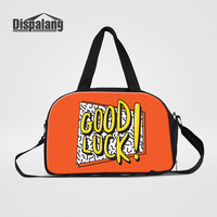 Dispalang 2017 Hot Sale Women Travel Bags GOOD LUCK Design Hand Luggage Duffle Bag For Teenage