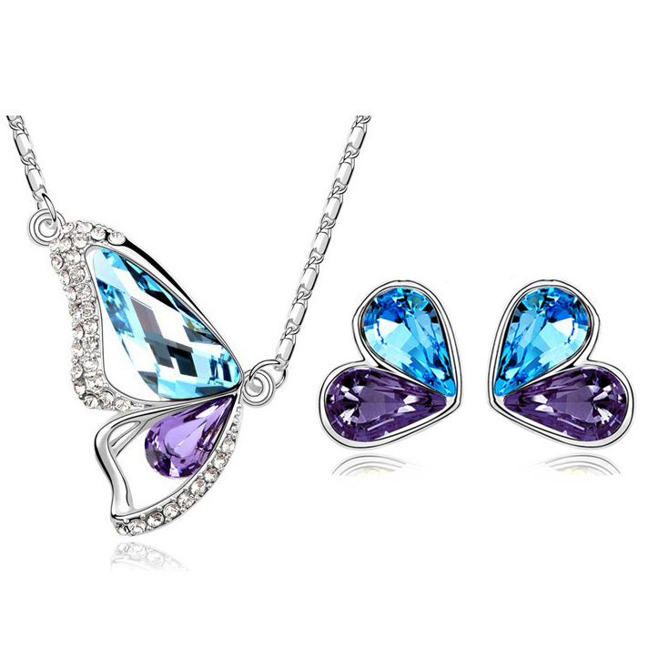 Австрийский хрусталь бабочка - Модные украшения - Фотография 4