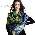 [Ода К Радости] Удивительные! высокое качество 100% шерсти женщин пашмины цифровых печатных осень зима теплая шарфы платки 190*65 см