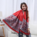 high quality women scarves ethnic shawl ladies long neck scarf femme tippet foulard femme tippet wool scarf
