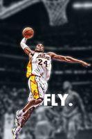80 Kobe Bryant LA Lakers NBA Basketball MVP Stars 24 X36 Poster