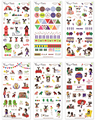 SST* 6 Sheets ' Girl and Dog ' Stickers DIY Albums Diary Decoration Cartoon Scrapbooking Kindergarten Baby Gift Children Toys +