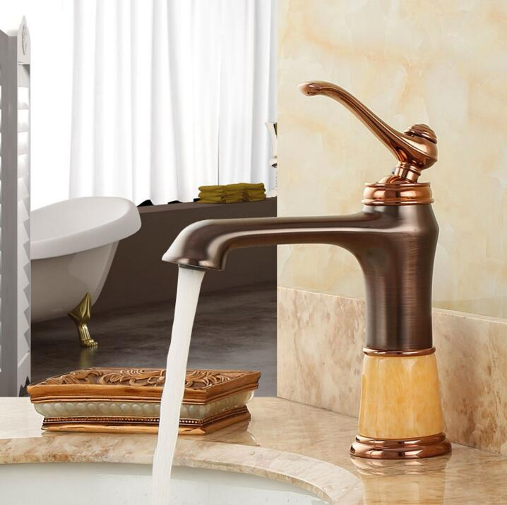 New Arrivals Fashion Rome bronze Basin Faucet Solid Brass with Diamond Bathroom Faucet Single Handle Sink Faucet water tapNew Arrivals Fashion Rome bronze Basin Faucet Solid Brass with Diamond Bathroom Faucet Single Handle Sink Faucet water tap