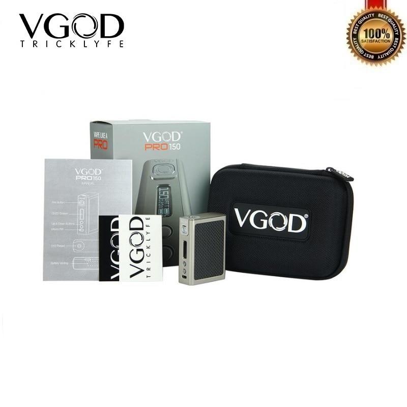 Original VGOD Pro 150 Box Mod 150W Electronic Cigarette TC Mod 18650 fit for VGOD Pro Drip RDA PRO RII RDTA Vape Tank Vaporizer цена 2017