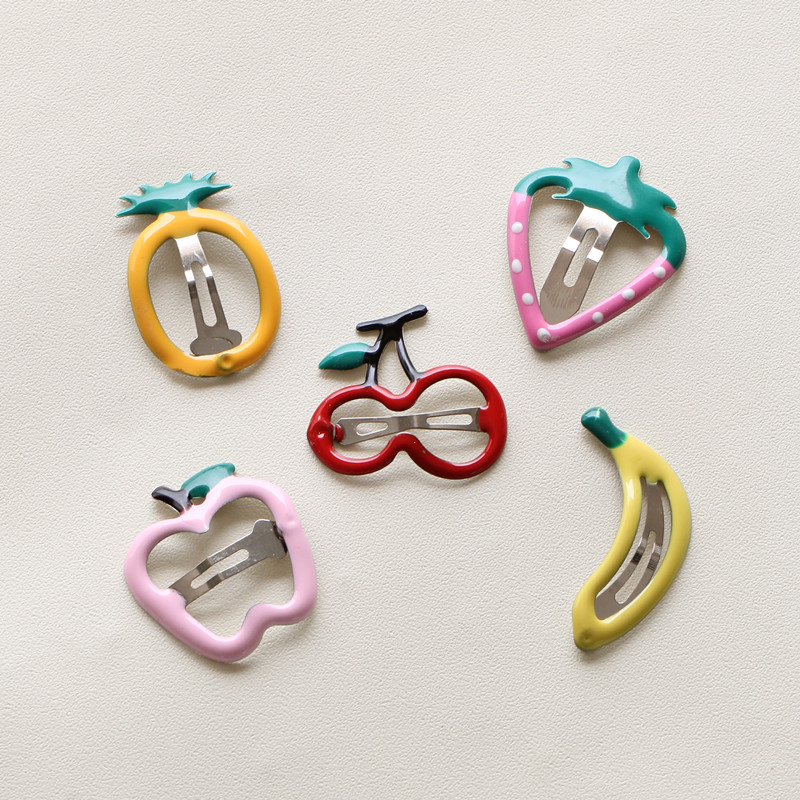 5PCS/lot Newly Design Baby Cute Colourful Fruits Hairpins Girls Hair Accessories Children Hairgrips Kids BB Hair Clips Headwear minnie mouse ears baby girl hair clip children clips accessories kids cute hairclip for girls hairpins hair clips pins menina