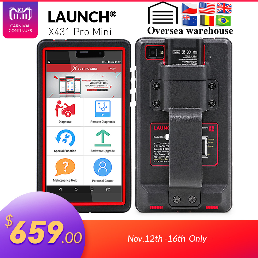 LANCIO X431 Pro Mini Auto strumento di diagnostica di Supporto WiFi/Bluetooth completo del sistema X-431 Pro Pro Mini Scanner Auto 2 anni di aggiornamento gratuito