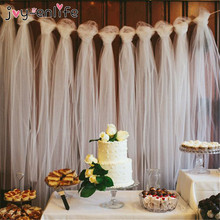 100 Yards Tulle Wedding Backdrop Wedding Decoration 15cm Tulle Roll Outdoor Ceremony Birthday Baby Shower Christmas Party Decor